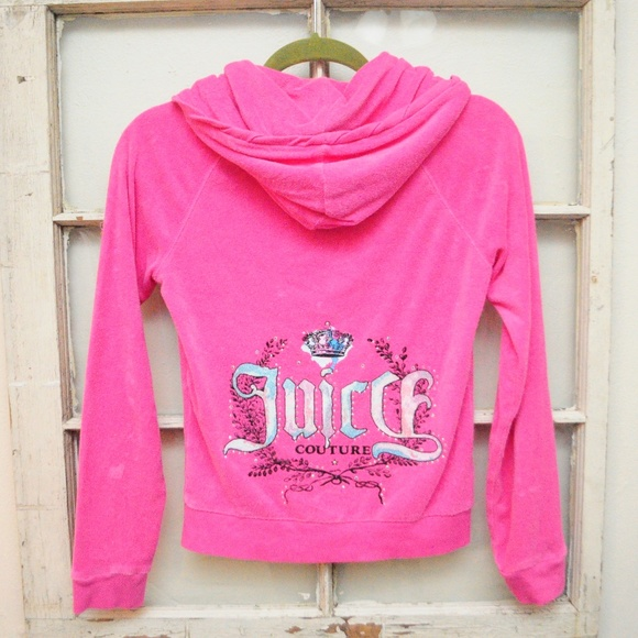 Juicy Couture Jackets & Blazers - Juicy Couture Hot Pink TrackSuit Jacket TerryCloth